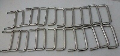 Lot Of 24 Cabinet / Drawer Pulls / Handles - Grey / Silver / Nickel Color