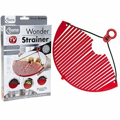 Wonder Strainer Plastic Kitchen Pot Pan Colander Sieve Water Filter