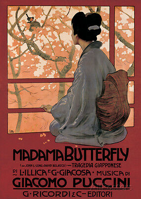 Madam Butterfly (G. Puccini) - Vintage Style Opera Poster - 20x28