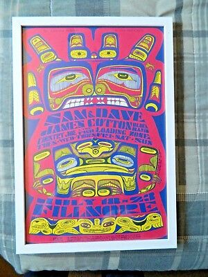 Bill Graham Fillmore Concert Poster 1967 #73 B. MacLean Sam & Dave Country Joe