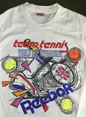 True Vintage 80s Reebok Team Tennis World Cup Invitational Tournament T-Shirt