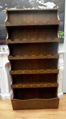 Vintage RETRO Timber WINE Rack Holds 30+ BOTTLES Large BOTTOM Shelf Adelaide