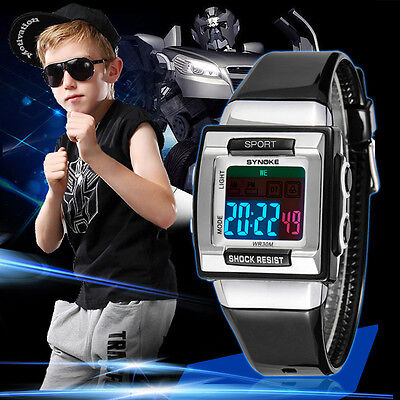 Luxury Waterproof Digital Electronic Watch Kids Children Boy Examination Watches