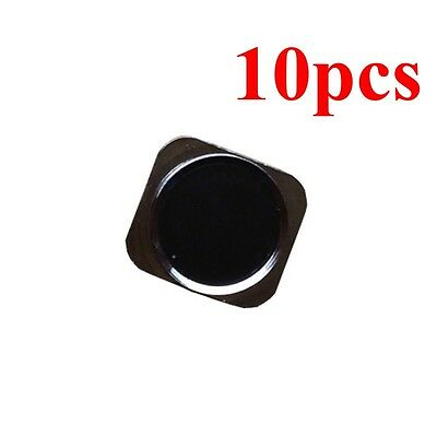 Lots of 10 Black 5S Home button 5S Style Replacement For iphone 5 5G