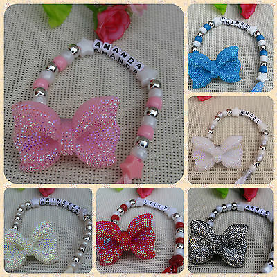 Personalised Stunning Big Bow Dummy Clip Chain Beautiful Gift for reborn doll
