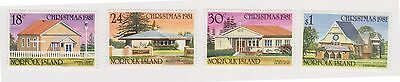 (OU-154) 1981 Norfolk Island 4set Christmas churches SG265-8 MUH