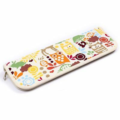 Hobbycraft Woodland Knitting Needles Pins Case Storage Organiser Elastic Straps