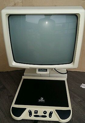 """Optelec ClearView 300 Black & White 17"""" CRT CCTV Low Vision  (@)"""