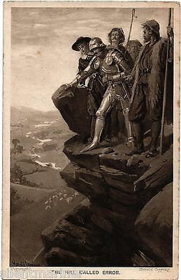 Harold Copping religious postcard, The Hill Called Error, unposted