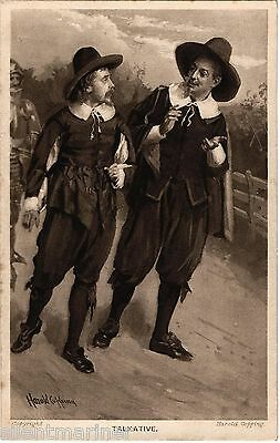 Harold Copping religious postcard, Talkative, unposted