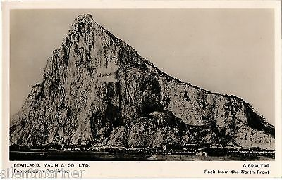Gibraltar, Rock from the North Front, b+w RP postcard, unposted