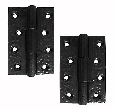 "A Pair Of 3"" x 2"" Butt Hinges in Smooth Black Cast Iron (AX29)"
