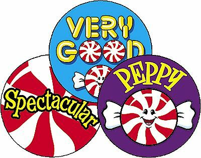 Peppermint Scratch n Sniff - Scented - Reward Stickers