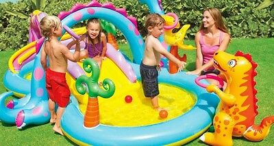 Swimming Pool Kids LARGE Dinosaur Water  Childrens Activity Centre Summer Play