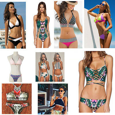 Women Bikini Set Bandage Push Up Padded Swimwear Swimsuit Bathing Beachwear KY