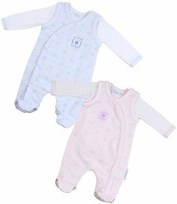 BABYPREM Baby Clothes Premature Tiny Baby Blue Pink Bodysuits Sleepsuits Outfit