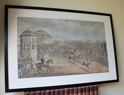 Doncaster St Leger Stakes Plate 3 Anticipation. Who Is The Winner Aquatint c1837