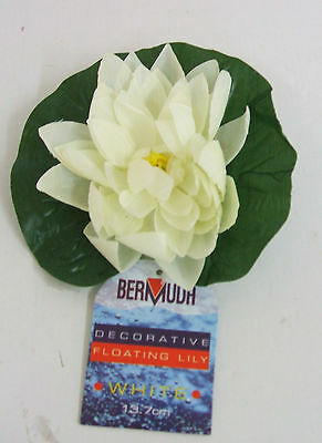 Bermuda Silk ( Faux ) Pond Lilies Pack of 4 White