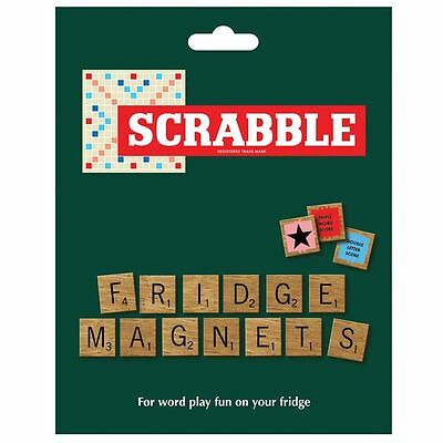 Scrabble Wood Finish Fridge Magnets Letter Tiles Set Wild & Wolf