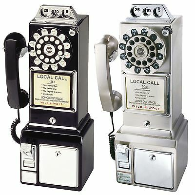 Wild & Wolf Classic 1950's Vintage Diner Phone Vintage Retro Collectible