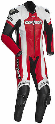 Cortech Red/White Mens Medium US 40-42, EU 52 Adrenaline Leather Motorcycle Suit