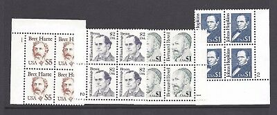 US Scott # 2193 - 2196 Great Americans Plate Blocks MNH