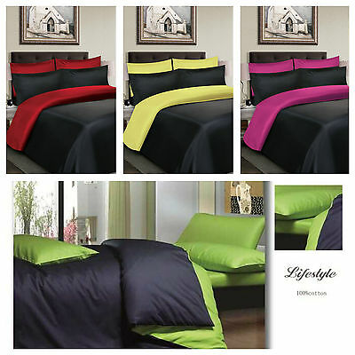4Pc Cotton Beddng Set, Duvet Cover, Fitted Sheets& Pillowcase Double, King Sizes