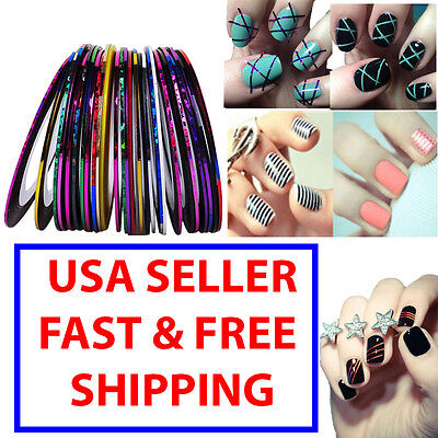 Mixed Colors Rolls Striping Tape Line Nail Art Tips Manicure Sticker DIY