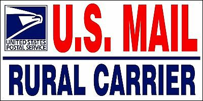 """NEW 2 U.S. Mail Delivery Magnetic Signs Rural Delivery Carrier Magnet 6""""X12"""""""