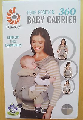 ERGObaby Four Position 360 Baby Carrier, Grey ~ 100% Authentic!