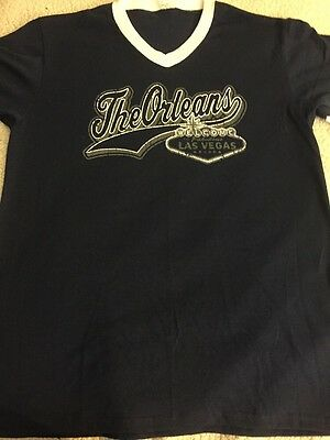 The Orleans  Casino Las Vegas Navy Blue T-Shirt XL New