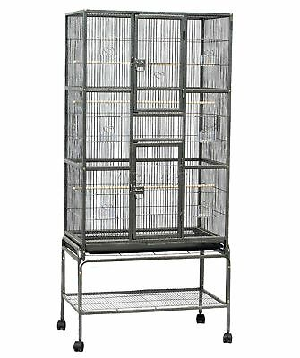 FoxHunter Large Metal Bird Cage Stand Aviary Parrot Budgie Canary Cockatiel 03