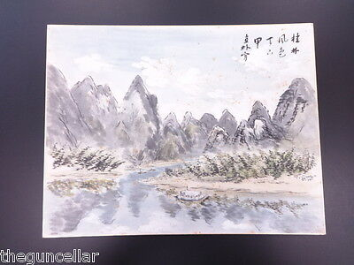 BEAUTIFUL VINTAGE RARE! JAPANESE PAINTING with ARTIST SIGNED CALLIGRAPHY