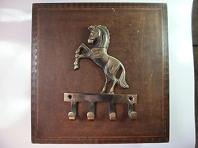 Vintage Antique Style Solid Brass Mustang Horse Wall Hooks Hanger