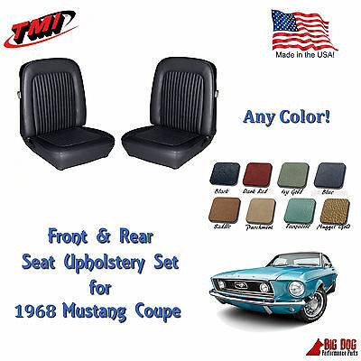 1968 Mustang Front & Rear Seat Upholstery- Any Color by TMI - Made in the USA!