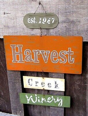 Vintage Style Faux Distressed Finish Metal Sign Home & Garden Wine Patio Decor