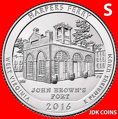 2016-S Harpers Ferry National Historical Park (Wv) Quarter Uncirculated