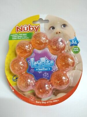 Nuby Pur Ice Bite Soother Teether Ring - Colors May Vary