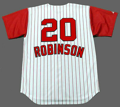 6f22d318429 FRANK ROBINSON Cincinnati Reds 1960 s Majestic Throwback Home Baseball  Jersey