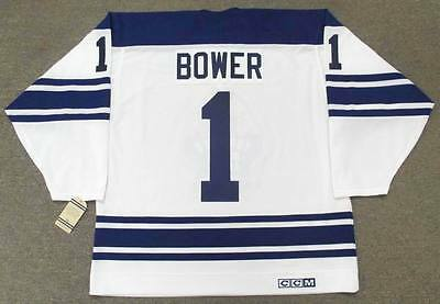 JOHNNY BOWER Toronto Maple Leafs 1967 CCM Vintage Away NHL Hockey Jersey