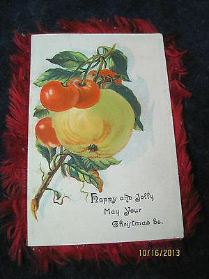 Antique Christmas greeting Victorian Trading card