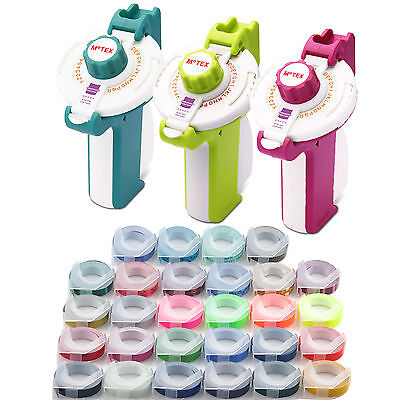 MOTEX Embossing Label Maker E-202 + 2 Rolls Various Colour Tapes Free Shipping