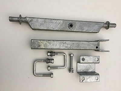 Galvanised Boat Trailer Double Wobble Roller Assembly Kit - For Fibreglass Boats