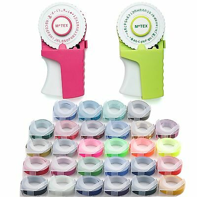 MOTEX Embossing Label Maker E-303 + 5 Rolls Various Colour Tapes Free Shipping