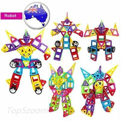 188pcs Multicolor Magnetic Blocks Construction Building Toys Gifts for Kids