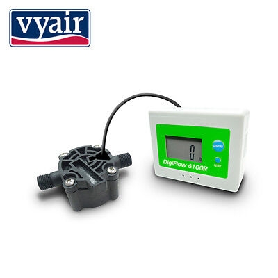 "Digital Flow Meter Measuring Flow Rates of 0.6-8.0L/Min: 1/4"" BSP"