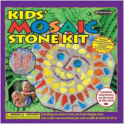 Milestones Kids Mosaic Stone Kit Stepping Childrens Craft Outdoor Decoration