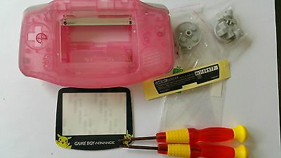 Es- Phonecaseonline Carcasa Gameboy Advance Pokemon Clear Pink Nueva