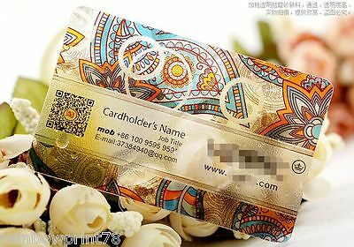 200 Custom Plastic PVC Business Cards Printing - Texture Frosted Transparent