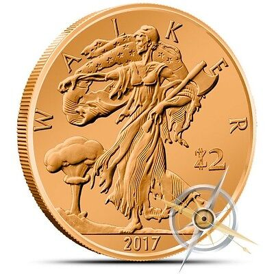 Zombucks Walker 1 oz .999 Copper BU Round LIMITED USA Made Zombie Bullion Coin